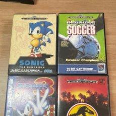 Jeux Vidéo et Consoles: LOTE DE CUATRO JUEGOS PARA LA SEGA MEGA DRIVE.. Lote 285059068