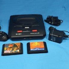 Videojuegos y Consolas: SEGA MEGADRIVE COMPLETA CON UN MANDO PAD DE 6 BOTONES Y FUNCIONANDO + JUEGOS. Lote 287196128