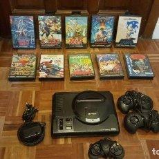 Videojuegos y Consolas: SEGA MEGADRIVE + 12 JUEGOS. Lote 287768238