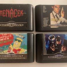 Videojuegos y Consolas: LOTE DE JUEGOS SEGA MEGA DRIVE MENACER SIMPSONS BATMAN RETURNS JAMES BOND 007 THE DUEL. Lote 288341098