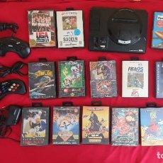 Videojuegos y Consolas: CONSOLA MEGA DRIVE BIT-16 SEGA +4 MANDOS +17 JUEGOS SIN PROBAR .TAL CUAL COMO SE VE EN FOTOS. Lote 288342728