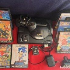 Videojuegos y Consolas: CONSOLA SEGA MEGA DRIVE 16-BIT CON 7 JUEGOS + 2 MANDO+ANTENA+CARGADOR SIN PROBAR HAY SOLO 5 MANUAL. Lote 289698768