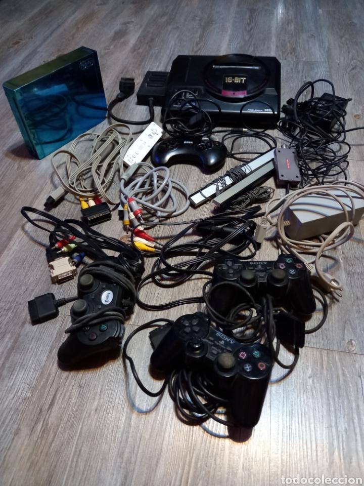 Videojuegos y Consolas: LOTE MEGA DRIVE 16 BIT ,MAS CABLES ,MANDOS PLAY Y WII - Foto 25 - 289911088