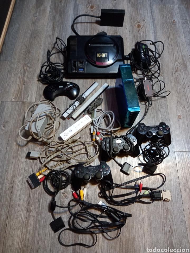 LOTE MEGA DRIVE 16 BIT ,MAS CABLES ,MANDOS PLAY Y WII (Juguetes - Videojuegos y Consolas - Sega - MegaDrive)