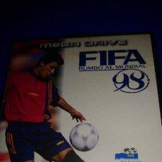 Videojuegos y Consolas: FIFA SOCCER 98 JUEGO PARA SEGA MEGADRIVE PAL COMPLETO. Lote 296066403