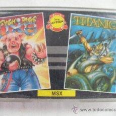 Videojuegos y Consolas: ANTIGUO CASSETE CON DOBLE JUEGO PSYCHO PIGS Y TITANIC. Lote 41284814