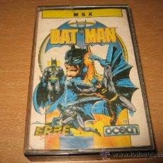 Videojuegos y Consolas: BAT-MAN MSX OCEAN ESPAÑOL. Lote 243323245