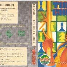 Videojuegos y Consolas: TURBO CHESS. MSX. RS- 108. 1986. CONTIENE MANUAL DE INSTRUCCIONES.ARTIC COMPUTING LTD.MICROSOFT.. Lote 34163898