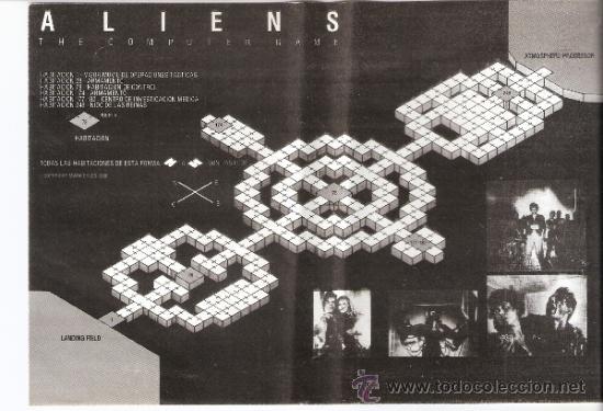 Videojuegos y Consolas: Aliens. Electric Dreams.Contiene mapa. 1987. - Foto 3 - 34249851