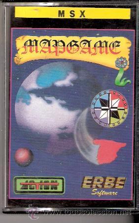 MAPGAME. MSX. ERBE SOFTWARE.1986. (Juguetes - Videojuegos y Consolas - Msx)