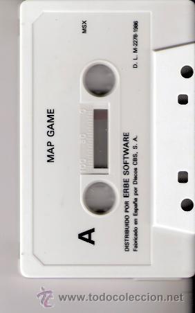 Videojuegos y Consolas: Mapgame. MSX. Erbe Software.1986. - Foto 2 - 34494096