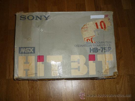 Videojuegos y Consolas: ORDENADOR SONY HIT BIT MSX HB 75P EN CAJA - Foto 2 - 72879637