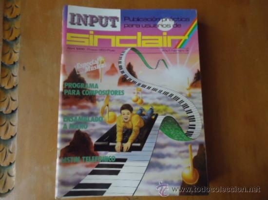 MSX , SPECTRUM 48 K , AMSTRAD, IMPUT SINCLAIR REVISTA AÑO 1 NUMERO 8 (Juguetes - Videojuegos y Consolas - Msx)