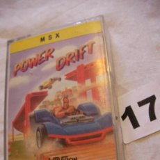 Videojuegos y Consolas: ANTIGUO JUEGO MSX POWER DRIFT - ENVIO GRATIS A ESPAÑA . Lote 39251171