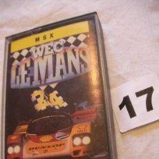 Videojuegos y Consolas: ANTIGUO JUEGO MSX WEC LEMAN - ENVIO GRATIS A ESPAÑA . Lote 39251191