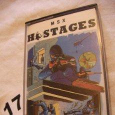 Videojuegos y Consolas: ANTIGUO JUEGO MSX HOSTAGES - ENVIO GRATIS A ESPAÑA . Lote 39251222