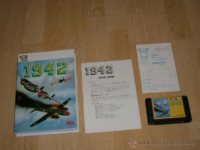 1942 COMPLETO MSX MSX2 CAPCOM COMO NUEVO (Juguetes - Videojuegos y Consolas - Msx)