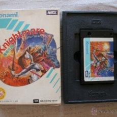 Videojuegos y Consolas: KNIGHTMARE MSX KONAMI CON CAJA. Lote 45209611
