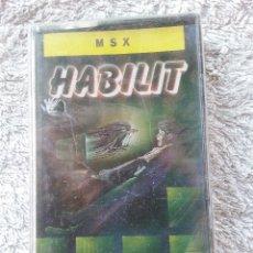 Videojuegos y Consolas: HABILIT - CINTA CASETE JUEGO MSX - PRECINTADA. Lote 48691485