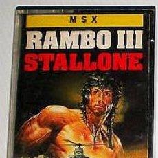 Videojuegos y Consolas: RAMBO III [OCEAN SOFTWARE] 1988 ERBE SOFTWARE] [MSX] [STALLONE]. Lote 42671843