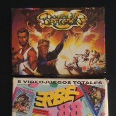 Videojuegos y Consolas: LOTE JUEGO ORDENADOR MSX ASPAR GP MASTER ERBE 88 Y DOUBLE DRAGON. Lote 49729971