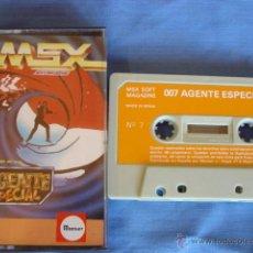 Videojuegos y Consolas: JUEGO MSX CASETE 007 AGENTE ESPECIAL. Lote 50977778