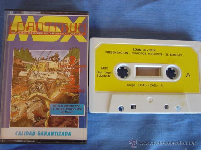 JUEGO MSX CASETE LOAD-N-RUN (Juguetes - Videojuegos y Consolas - Msx)