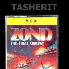 Videojuegos y Consolas: ZOND - MSX MSX2 CINTA CASETE VERSION ESPAÑOLA IBER SOFTWARE CASETTE RETRO. Lote 52121829