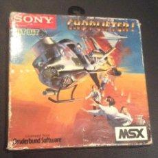 Videojuegos y Consolas: JUEGO CARTUCHO PARA MSX CHOPLIFTER COMPLETO. Lote 52640913