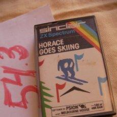 Videojuegos y Consolas: ANTIGUO JUEGO ZX SPECTRUM - HORACE GOES SKIING - NUEVO SIN USAR. Lote 53152088