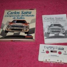 Videojuegos y Consolas: JUEGO PARA MSX CARLOS SAINZ BY ZIGURAT 1990 COMO NUEVO. Lote 54145931