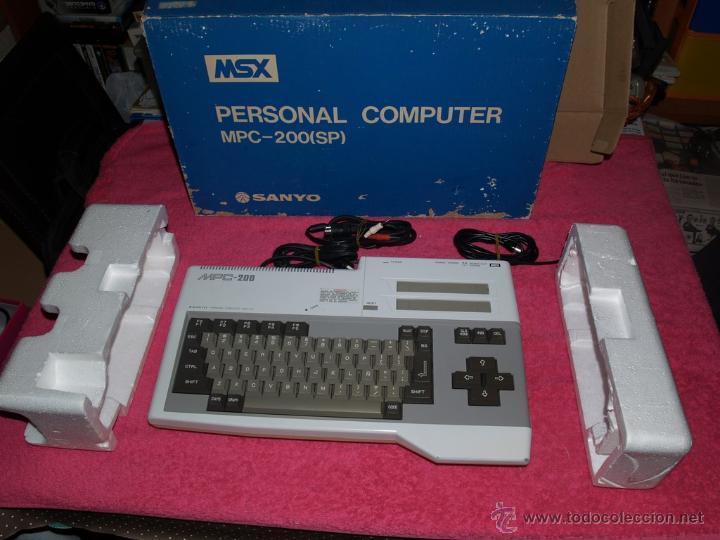 ORDENADOR MSX SANYO MPC-200 EN CAJA CON CORCHOS Y CABLEADO ORIGINAL (Juguetes - Videojuegos y Consolas - Msx)