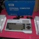 Videojuegos y Consolas: ORDENADOR MSX SANYO MPC-200 EN CAJA CON CORCHOS Y CABLEADO ORIGINAL. Lote 54146046