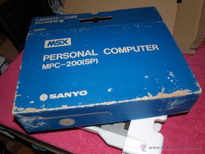 Videojuegos y Consolas: ORDENADOR MSX SANYO MPC-200 EN CAJA CON CORCHOS Y CABLEADO ORIGINAL - Foto 3 - 54146046