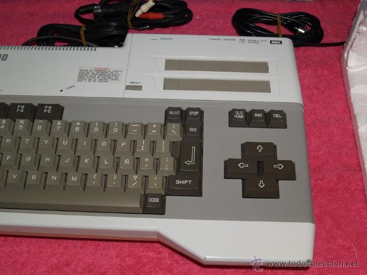 Videojuegos y Consolas: ORDENADOR MSX SANYO MPC-200 EN CAJA CON CORCHOS Y CABLEADO ORIGINAL - Foto 6 - 54146046