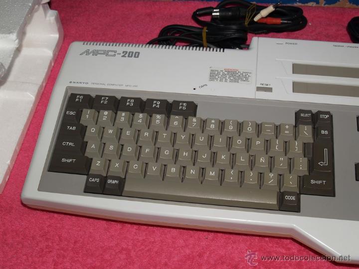 Videojuegos y Consolas: ORDENADOR MSX SANYO MPC-200 EN CAJA CON CORCHOS Y CABLEADO ORIGINAL - Foto 7 - 54146046
