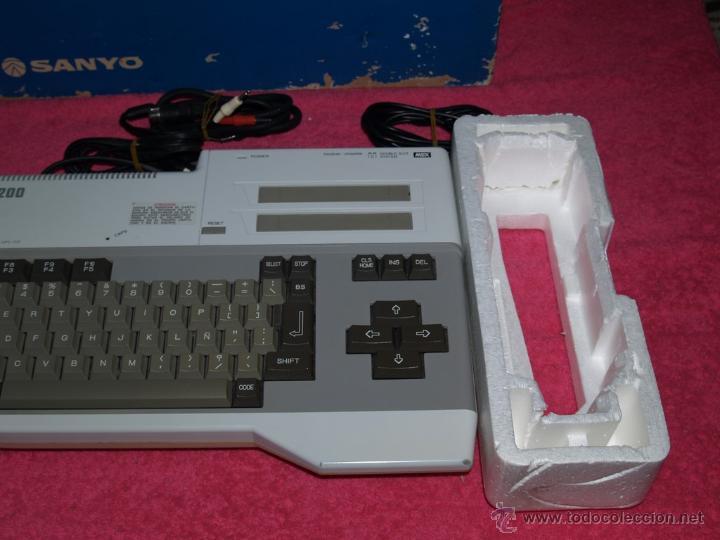 Videojuegos y Consolas: ORDENADOR MSX SANYO MPC-200 EN CAJA CON CORCHOS Y CABLEADO ORIGINAL - Foto 8 - 54146046