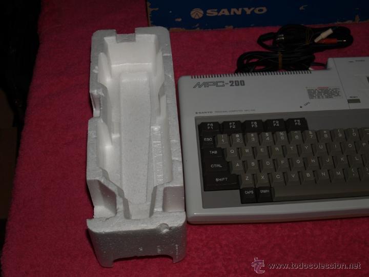Videojuegos y Consolas: ORDENADOR MSX SANYO MPC-200 EN CAJA CON CORCHOS Y CABLEADO ORIGINAL - Foto 9 - 54146046