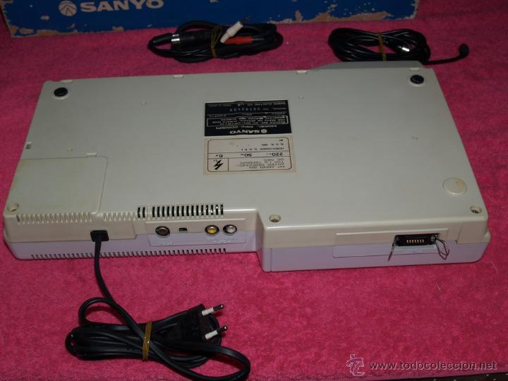 Videojuegos y Consolas: ORDENADOR MSX SANYO MPC-200 EN CAJA CON CORCHOS Y CABLEADO ORIGINAL - Foto 10 - 54146046