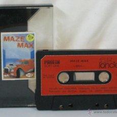 Videojuegos y Consolas: MSX *** CASETE VIDEOJUEGO MAZE MAX *** LORICIELS *** CASETE + CAJA DE LA IMAGEN ***. Lote 54158717