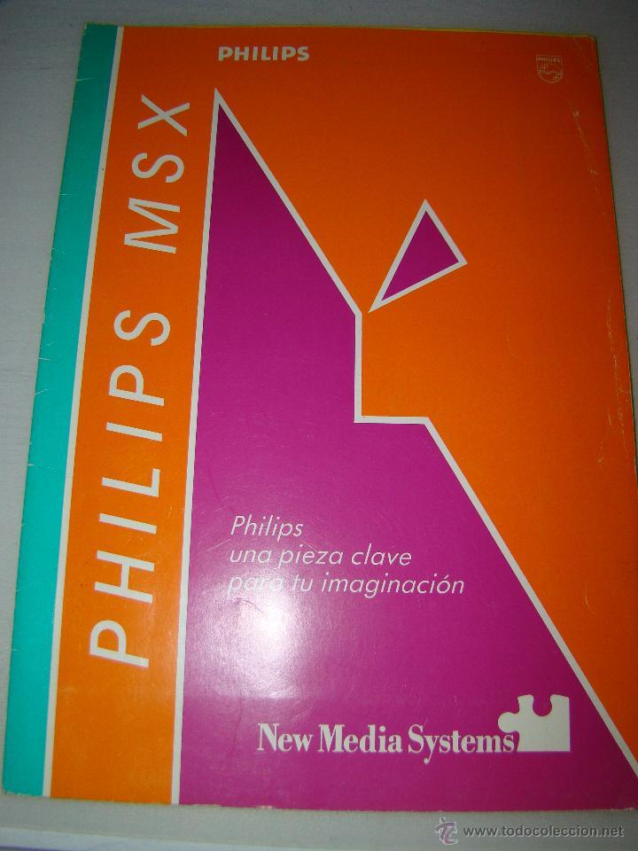 ANTIGUO CATALOGO PHILIPS MSX (Juguetes - Videojuegos y Consolas - Msx)