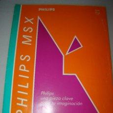 Videojuegos y Consolas: ANTIGUO CATALOGO PHILIPS MSX. Lote 54437656