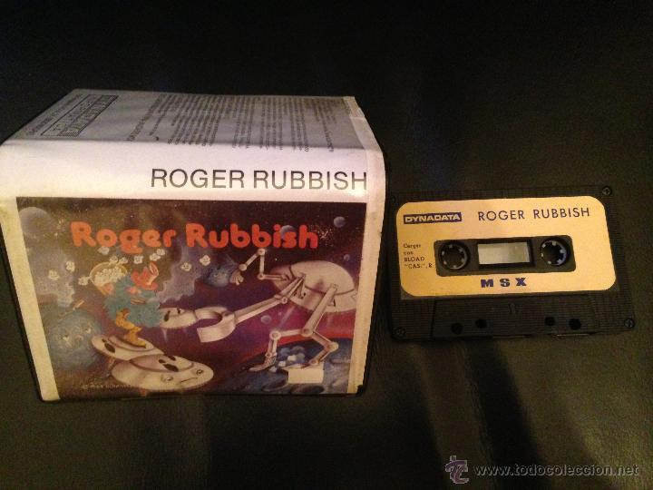 ROGER RUBBISH MSX MSX2 CINTA CASETE VERSION ESPAÑOLA DYNADATA CASETTE RETRO (Juguetes - Videojuegos y Consolas - Msx)