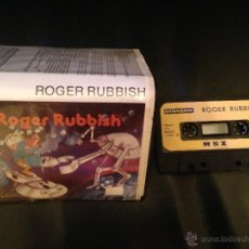 Videojuegos y Consolas: ROGER RUBBISH MSX MSX2 CINTA CASETE VERSION ESPAÑOLA DYNADATA CASETTE RETRO. Lote 54621807