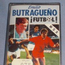 Videojuegos y Consolas: VIDEOJUEGO BUTRAGUEÑO FUTBOL MSX CINTA SIN ABRIR. Lote 55387452