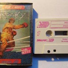 Videojuegos y Consolas: MSX JUEGO ORIGINAL ROCKY. Lote 55572758