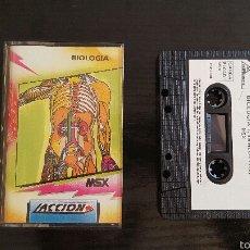 Videojuegos y Consolas: JUEGO MSX - BIOLOGIA + EL JUEGO DE LA MONCLOA. Lote 56311922