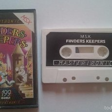 Videojuegos y Consolas: JUEGO FINDERS KEEPERS MASTERTRONIC MSX PHILIPS PAL.. Lote 56796033