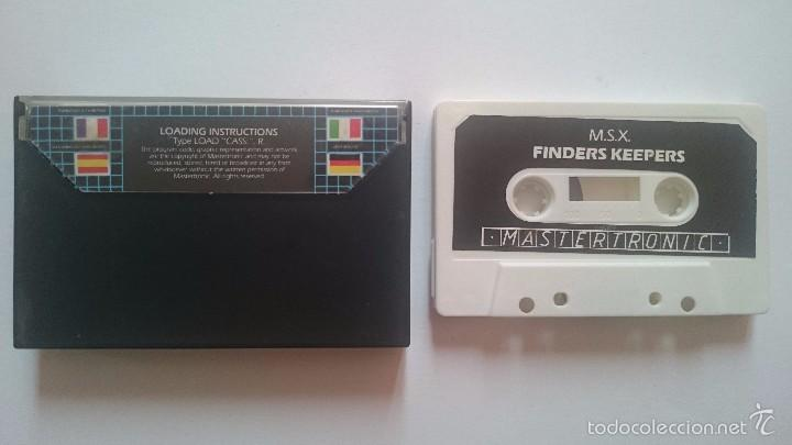 Videojuegos y Consolas: JUEGO FINDERS KEEPERS MASTERTRONIC MSX PHILIPS PAL. - Foto 2 - 56796033