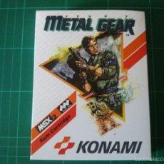 Metal Gear Solid. Cartucho MSX 2. Mega Rom